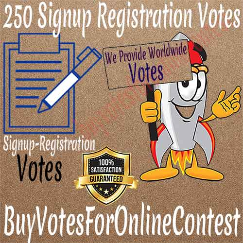 Buy Signup Registration Votes